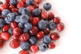 Blueberries and Cranberries: