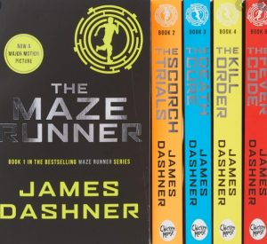 shows the Maze Runner trilogy books